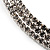 Austrian Crystal Choker Necklace (Silver&Clear) - view 8