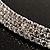 Austrian Crystal Choker Necklace (Silver&Clear) - view 5