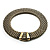 Vintage Style Wide Mesh Magnetic Choker (Bronze Tone) - view 10