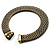 Vintage Style Wide Mesh Magnetic Choker (Bronze Tone) - view 9