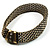 Vintage Style Wide Mesh Magnetic Choker (Bronze Tone) - view 11