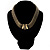 Vintage Style Wide Mesh Magnetic Choker (Bronze Tone) - view 14
