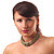 Vintage Style Wide Mesh Magnetic Choker (Bronze Tone) - view 4