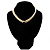 2 Strand Light Cream Imitation Pearl CZ Wedding Choker Necklace (With Jet-Black Central Stone) - view 7
