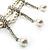2 Strand Faux Pearl Bridal Diamante Choker Necklace (Silver Tone) - view 8