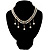 2 Strand Faux Pearl Bridal Diamante Choker Necklace (Silver Tone) - view 5