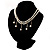 2 Strand Faux Pearl Bridal Diamante Choker Necklace (Silver Tone) - view 10