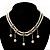 2 Strand Faux Pearl Bridal Diamante Choker Necklace (Silver Tone)