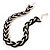 Chic Braided Choker Necklace (Silver&Black Tone) - view 6