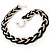 Chic Braided Choker Necklace (Silver&Black Tone) - view 5