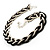 Chic Braided Choker Necklace (Silver&Black Tone) - view 10