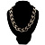 Chic Braided Choker Necklace (Silver&Black Tone) - view 2