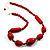 Glamorous Red Nugget Ceramic Necklace - view 1