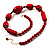 Glamorous Red Nugget Ceramic Necklace - view 4