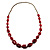 Long Plastic Faceted Nugget Necklace (Cranberry&Grey) - view 7