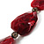 Long Plastic Faceted Nugget Necklace (Cranberry&Grey) - view 5