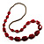 Long Plastic Faceted Nugget Necklace (Cranberry&Grey) - view 3