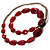 Long Plastic Faceted Nugget Necklace (Cranberry&Grey) - view 6