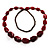 Long Plastic Faceted Nugget Necklace (Cranberry&Grey) - view 8