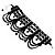 Victorian Black Beaded Choker Adult - view 7
