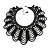 Luxurious Black Beaded Bib Style Choker Necklace Adult