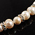 Light Cream Freshwater Pearl Necklace With Crystal Rings (8mm) - view 6