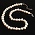 Light Cream Freshwater Pearl Necklace With Crystal Rings (8mm) - view 3