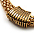 Gold Tone Wide Mesh Magnetic Fashion Choker Necklace - view 6
