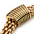 Gold Tone Wide Mesh Magnetic Fashion Choker Necklace - view 4