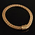 Gold Tone Wide Mesh Magnetic Fashion Choker Necklace - view 11
