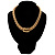 Gold Tone Wide Mesh Magnetic Fashion Choker Necklace - view 8