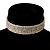 5-Row Austrian Crystal Choker Necklace (Silver&Clear) - view 3