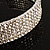 5-Row Austrian Crystal Choker Necklace (Silver&Clear) - view 5