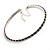 Thin Austrian Crystal Choker Necklace (Clear & Black) - view 5