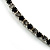 Thin Austrian Crystal Choker Necklace (Clear & Black) - view 7