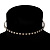 Thin Austrian Crystal Choker Necklace (Clear & Black) - view 2