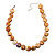 Lustrous Honey-Yellow Colourful Shell Disk Necklace On Cotton Tread - view 5