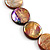 Lustrous Honey-Yellow Colourful Shell Disk Necklace On Cotton Tread - view 6