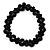 Black Acrylic Beaded Flex Choker Adult - view 8