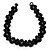 Black Acrylic Beaded Flex Choker Adult - view 4