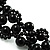 Black Acrylic Beaded Flex Choker Adult - view 5