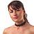 Black Acrylic Beaded Flex Choker Adult - view 2