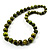 Animal Print Wooden Bead Necklace (Grass Green & Black) - 70cm L - view 15