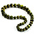 Animal Print Wooden Bead Necklace (Grass Green & Black) - 70cm L - view 5