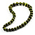 Animal Print Wooden Bead Necklace (Grass Green & Black) - 70cm L - view 6
