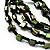 Multistrand Glass And Shell - Composite Necklace (Olive Green & Black) - 54cm L - view 3