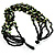 Multistrand Glass And Shell - Composite Necklace (Olive Green & Black) - 54cm L - view 5