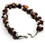 Exquisite Faux Pearl & Shell Composite Silver Tone Link Necklace (Chocolate & White) - view 5