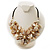 Stunning Antique White Shell-Composite Leather Cord Necklace - view 4