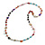 Multicoloured Long Shell Composite & Imitation Pearl Bead Silver Tone Necklace - 120cm Long - view 16